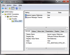 Fig 4: ADMX Editor in action!