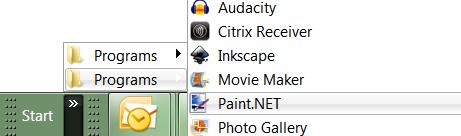 Dual Folder Start Menu