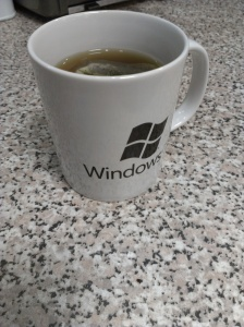 Windows 7 branded mug of tea